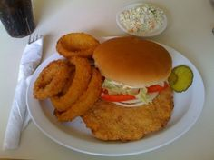 Breaded Tenderloins Buy a pork tenderloin, slice off in 3oz. slices. pound out until about 4×6 dip in egg then in cracker crumbs…deep fry. Oh, my, I grew up in the Midwest and this is the best sandwich you can ever have. I'll find a pic for you….Oh, yes, serve it up with french fried onion rings!