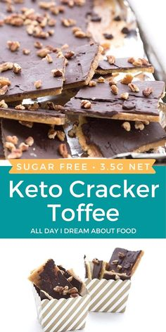 Make your own keto graham crackers... and then make your own keto cracker toffee! A tasty low carb sweet treat. Easy No Bake Desserts, Low Carb Desserts, Dessert Recipes, Health Desserts, Delicious Desserts, Cake Recipes, Low Carb Candy, Keto Candy, Cracker Toffee