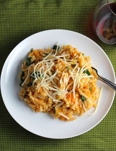 Orzo with Leftover Turkey and Sweet Potatoes is a delicious way to use leftover turkey! A great #SundaySupper or Thanksgiving weekend option.