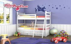 Un hermoso diseño de vinilos decorativos infantiles que llenará tu habitación de mágicas estrellas gracias al avión mágico