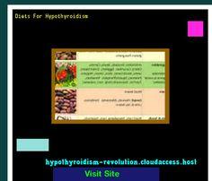 Diets For Hypothyroidism 140503 - Hypothyroidism Revolution!