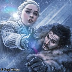 Mother of Dragons and King in the North by yagihikaru.deviantart.com on @DeviantArt