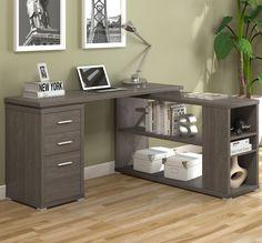 Olive L-Shape Computer Desk