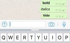 È possibile scrivere in grassetto aggiungendo due asterischi prima e dopo la *parola*, o in corsivo con due _underscore_ e barrato con due ~tildi~. Si possono anche combinare gli _*stili*_ in questo modo. The Telegraph, Whatsapp
