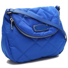 Marc by Marc Jacobs Crosby Quilted Nylon Mini Natasha Cross body Bag Blue NWT #MarcbyMarcJacobs #MessengerCrossBody