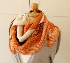 Knitting Shawl Pattern - Autumn Fades Shawl - knit wrap shawl easy knitting woman shawl pdf pattern Instant Download