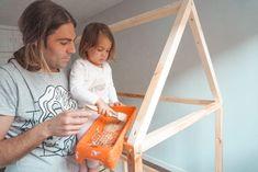 Cama casita Montessori - Hack Ikea KURA - My family Trip Ikea Montessori, Baby Room Diy, Baby Bedroom, Kura Cama Ikea, Girl Nursery, Girl Room, Ikea Toddler Bed, Hack Ikea, Nursery Organisation