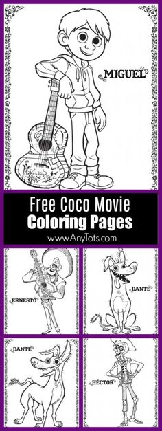 Free Disney Pixar Coco Coloring Pages, Coco Activity Sheets. www.anytots.com #FreePrintable #ColoringPages #PixarCoCo