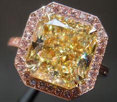 Light Yellow Diamonds | Loose Diamonds | Radiant Cut Diamonds