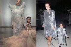 Mother-Daughter Twinning: Beyoncé And Blue Ivy Vs Kim Kardashian & North West - http://www.popularaz.com/mother-daughter-twinning-beyonce-and-blue-ivy-vs-kim-kardashian-north-west/