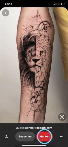 Lion Head Tattoos, Bear Tattoos, Cool Forearm Tattoos, Forearm Tattoo Design, Hand Tattoos, Card Tattoo Designs, Crown Tattoo Design, Tattoo Designs Men, Geometric Tattoos Men