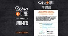Milestones Wine & Dine in Support of Women
