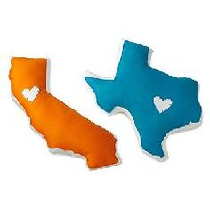 I can totally make these! State from where we're from, and where we met. <3