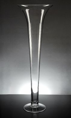For The Tall Centerpieces Silver Mercury Glass 24 In Pilsner Trumpet Vase Solo Product