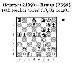 Real game chess tactic. Black to move. How should black proceed? 