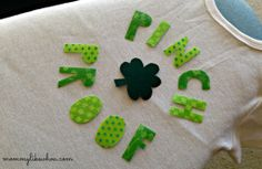 DIY Baby Applique - from Mommy Like Whoa - guest blogging at Someday Crafts. #baby #clothing #nosilhouette #stpatricksday #shirt