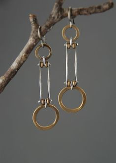 Trapeze Earrings por MaggieJs en Etsy