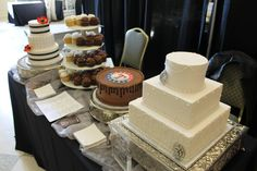White tiered cake? Cupcakes? Need to have your future hubby's team on a cake? The Denton Bridal Show can facilitate your sweet needs. #Dentoning