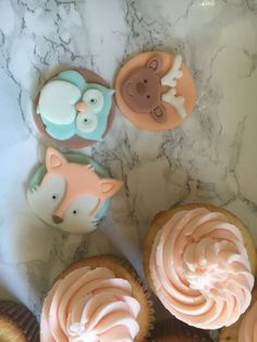 Woodland critters cupcake toppers by BigTopsCakeShop on Etsy