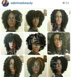 Marley hair wig. Oh, the endless possibilities of Crochet wigs with Marley hair.