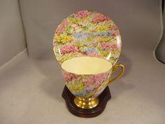 Shelley ROCK GARDEN Ripon CHINTZ Porcelain Tea Cup & Saucer Bone China England