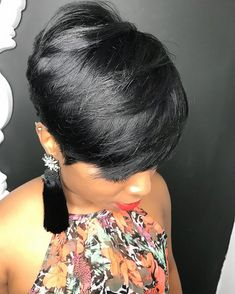 Really adore this short hairstyles Dope Hairstyles, Elegant Hairstyles, Short Quick Weave Hairstyles, Black Hairstyles, Pretty Hairstyles, Braided Hairstyles, Girl Short Hair, Short Hair Cuts, Curly Hair Styles