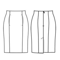 Юбка - выкройка № 122 из журнала 8/2011 Burda – выкройки юбок на Burdastyle.ru