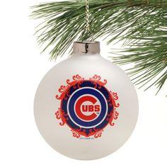 Chicago Cubs Baseball Christmas Ornament by Boelter Brands | SportsWorldChicago.com  #ChicagoCubs @cubsbaseball