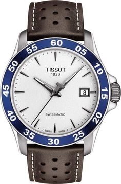 Tissot Watch V8 Swissmatic Mens #add-content #basel-18 #bezel-fixed #bracelet-strap-leather #brand-tissot #case-depth-12-7mm #case-material-steel #case-width-42-5mm #date-yes #delivery-timescale-call-us #dial-colour-white #discount-code-allow #gender-mens #luxury #movement-automatic #new-product-yes #official-stockist-for-tissot-watches #packaging-tissot-watch-packaging #style-dress #subcat-t-sport #supplier-model-no-t1064071603100 #warranty-tissot-official-2-year-guarantee…