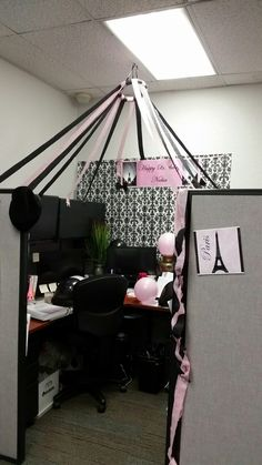 office decoration. Cubicle Birthday Decoration Office