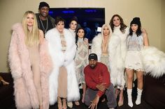 A big chunk of the Kardashian-Jenner clan came out Thursday night to celebrate the launch of Kanye West's new clothing line/album, but we couldn't take our eyes off the duds that HIS posse was donning.