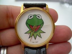 Vintage Kermit the Frog Image Watch New Battery by Andraliz, $325.00