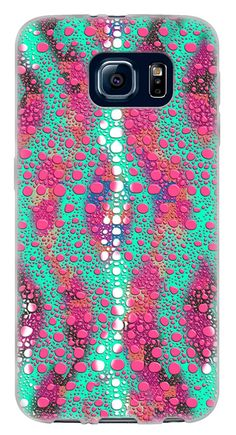 Amazon.com: {Colorful Reptile Scles} Soft and Smooth Silicone Cute 3D Fitted Bumper Back Cover Gel Case for Samsung Galaxy S6 {Color is Teal, Pink and White}: Cell Phones & Accessories