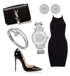 """""""Untitled #18"""" by lluviagb on Polyvore featuring Christian Louboutin, Cartier, Michael Kors and Yves Saint Laurent"""
