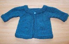 Aran Baby Jacket newborn 9 months . Free knitting pattern 5mm needles fast to knit