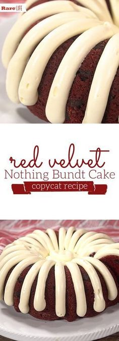copycat recipes If youre lucky enough to have a Nothing Bundt Cakes location in your hometown, youre probably familiar with how delicious their cakes are. Lucky for you, weve found a copycat recipe that looks just as good. Köstliche Desserts, Delicious Desserts, Dessert Recipes, Copycat Recipes Desserts, Health Desserts, Plated Desserts, Food Cakes, Bakery Cakes, Nothing Bundt Cake Copycat Recipe