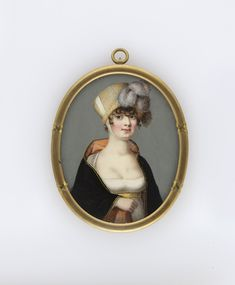 Author Unknown, A young lady in a poke bonnet, 1808-1812
