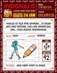 Tafsir Shio Togel Online Live Draw 4D Indonalo Banjarmasin 21 Oktober 2016