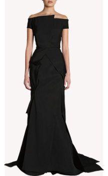 J. Mendel Off The Shoulder Gown- PERFECT Black Tie Dress!!!!