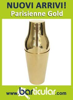 Shaker Parisienne Gold - idea regalo per bartender & mixologist! http://www.barticular.com/store/gold-copper-line/shaker-parisienne-gold