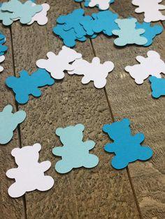 Blue Teddy Bear Table Confetti / Baby Shower Party / Birth