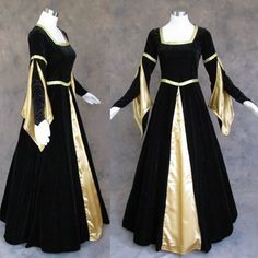 Black and Gold Medieval Renaissance Gown Dress « StoreBreak.com – Away from the busy stores