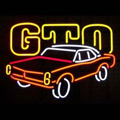 Gm American Auto Pontiac Gto Neon Sign///How I love you neon signs , Real nice for my Home Bar Deco