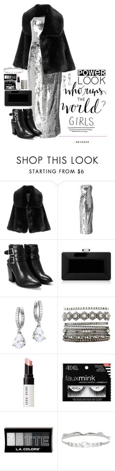 """Untitled #374"" by elenknstntn ❤ liked on Polyvore featuring Sally Lapointe, Nasty Gal, Judith Leiber, Kate Spade, Charlotte Russe, Bobbi Brown Cosmetics, Jenny Packham, girlpower and powerlook"