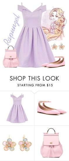 """Rapunzel"" by violetvd ❤ liked on Polyvore featuring Chi Chi, Gianvito Rossi, Mixit, Dolce&Gabbana, women's clothing, women, female, woman, misses and juniors"