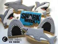 Shark Week Cookies! Look out!