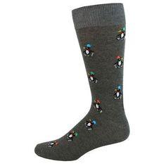 Men's Dancing Penguins Socks on Gray