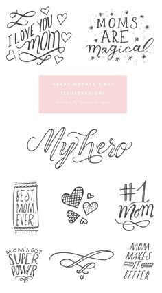 obaby mother's day illustrations
