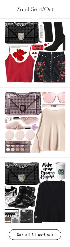 """Zaful Sept/Oct"" by pastelneon ❤ liked on Polyvore featuring Vogue Eyewear, Surya, Pippa, Alexander McQueen, Yves Delorme, Too Faced Cosmetics, Bobbi Brown Cosmetics, Made By Dawn, Post-It and Tiffany & Co."