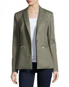 Veronica Beard Cutaway Jacket 8 Green | Coat, Jacket and Clothing